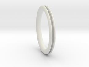 Open pipe ring for DIY  in White Natural Versatile Plastic