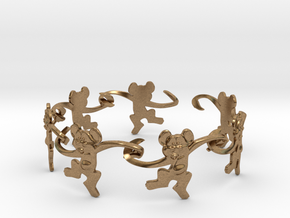 Monkey Band in Natural Brass