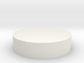 Circular Tab in White Natural Versatile Plastic