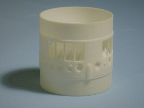 Titan ll BT70 Interstage Coupler-(Gemini-Titan) in White Processed Versatile Plastic