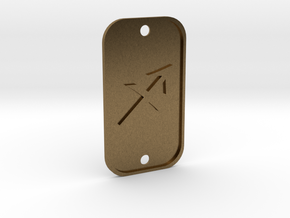 Sagittarius (The Archer) DogTag V1 in Natural Bronze
