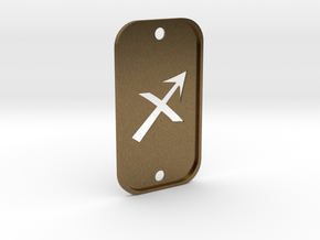 Sagittarius (The Archer) DogTag V2 in Natural Bronze