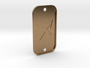 Sagittarius (The Archer) DogTag V4 in Natural Brass
