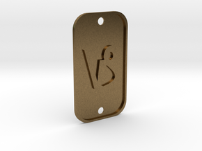 Capricorn (The Mountain Sea-goat) DogTag V1 in Natural Bronze