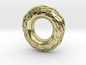 Halo in 18k Gold Plated Brass: 5.5 / 50.25