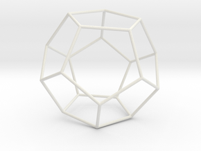 Pentahedron in White Natural Versatile Plastic