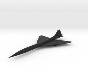 SST (Supersonic Transport) Airliner in Black Premium Strong & Flexible: 6mm
