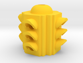 Traffic Light 4 Way Body - HO 87:1 Scale in Yellow Processed Versatile Plastic