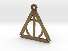 Deathly Hallows inspired rough pendant in Natural Bronze