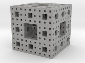 Menger sponge Square Cube in Aluminum