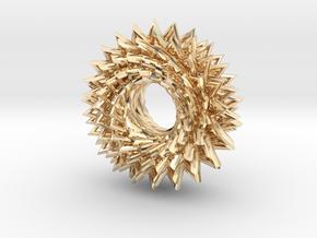 Math Star in 14k Gold Plated Brass