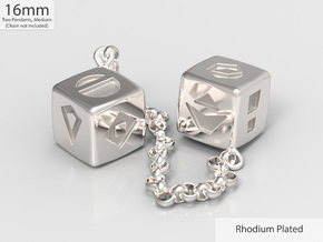 Smuggler's Lucky Sabacc Dice, Han Solo, Star Wars in Rhodium Plated Brass