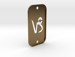 Capricorn (The Mountain Sea-goat) DogTag V2 in Natural Bronze