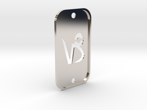Capricorn (The Mountain Sea-goat) DogTag V2 in Rhodium Plated Brass