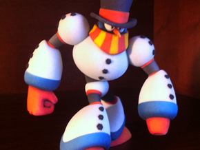 Snow Man in Full Color Sandstone