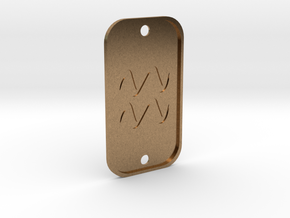 Aquarius (The Water-bearer) DogTag V3 in Natural Brass