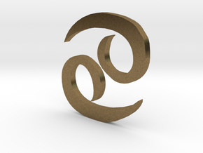 Cancer (The Crab) Symbol in Natural Bronze