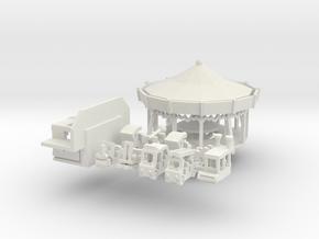 kleines Henneckekarussell - Antrieb 1:160 in White Natural Versatile Plastic