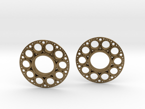 IF KDisc Earrings in Natural Bronze