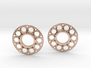 IF KDisc Earrings in 14k Rose Gold Plated Brass