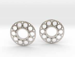 IF KDisc Earrings in Rhodium Plated Brass