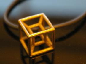 hypercube in Polished Bronzed Silver Steel