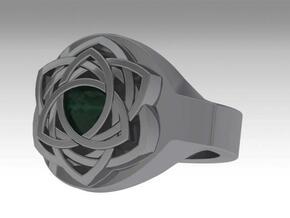 bague celtique in Polished Silver