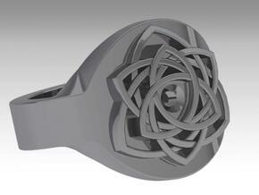bague celtique percée in Polished Silver