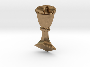 Rider-Waite Cup Pendant in Natural Brass