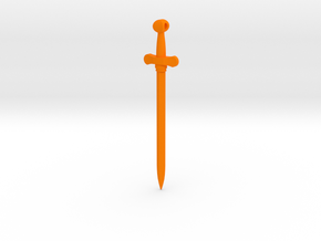 Rider-Waite Sword Pendant in Orange Strong & Flexible Polished