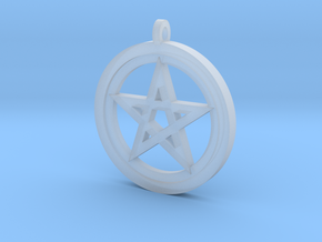 Rider-Waite Pentacle Pendant in Smooth Fine Detail Plastic