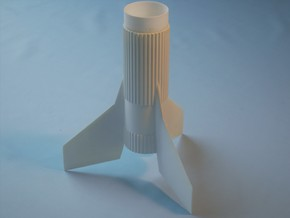 'Space Transporter America' Fin unit-BT-60 & 24mm  in White Natural Versatile Plastic