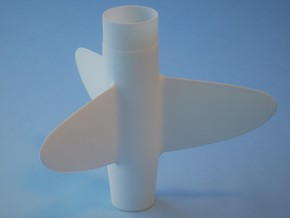 Sprint-style Fin Unit BT50 for 18mm motors in White Processed Versatile Plastic