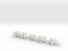 3dWordFlip: -9H-JH-QH-KH-AH-/-2D-3D-4D-5D-8D- in White Natural Versatile Plastic