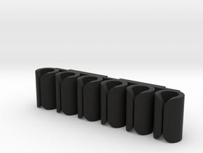 Revolver shell holder molle in Black Natural Versatile Plastic