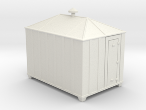 Signal Relay Shed - HO 87:1 Scale in White Natural Versatile Plastic