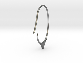 Hoop small to medium size(SWH7b) in Polished Silver