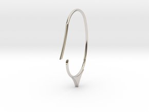 Hoop small size (SWH7a) in Rhodium Plated Brass