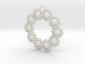 Fractal Roundness in White Natural Versatile Plastic