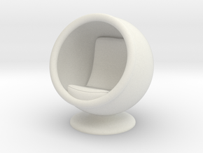 Ball Chair in White Natural Versatile Plastic