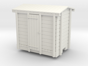 On30 Short boxcar in White Natural Versatile Plastic