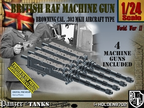 1/24 Browning 303 MkII RAF Set001 in Smooth Fine Detail Plastic