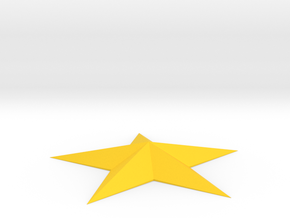 5 Point Star Spike in Yellow Processed Versatile Plastic