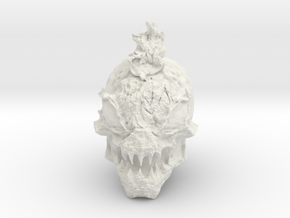 Alien Monster Head in White Natural Versatile Plastic: Large