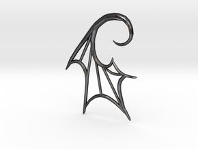 BatWing 6G earring in Polished Grey Steel