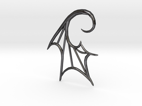 BatWing 6G earring in Polished and Bronzed Black Steel
