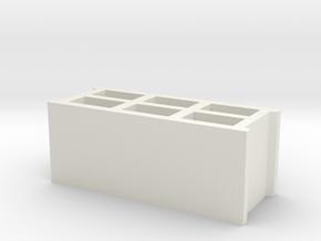 Block 1/32 in White Natural Versatile Plastic