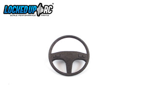 1:10 RC Truck Steering wheel 5 in Black Natural Versatile Plastic