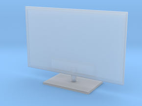 """1:48 (O SCALE) 32"""" LED TV FLAT SCREEN (V1.3) in Smooth Fine Detail Plastic"""