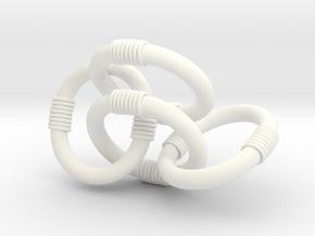Slave Leia Four Link Chain in White Processed Versatile Plastic